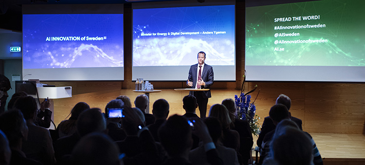The Minister for Energy and Digitalisation, Anders Ygeman inaugurated AI Innovation of Sweden.