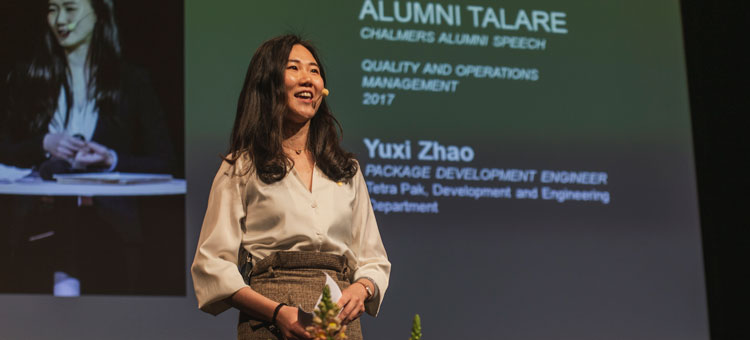 Chalmersalumnen Yuxi Zhao, Package Development Engineer på Tetra Pak.