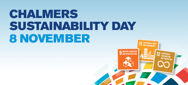 Picture with logo and text Chalmers Sustainability Day