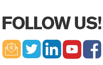 Follow us + social media icons