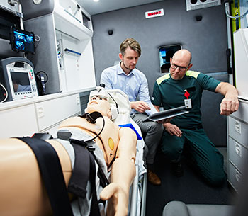 Mobile health care in ambulance