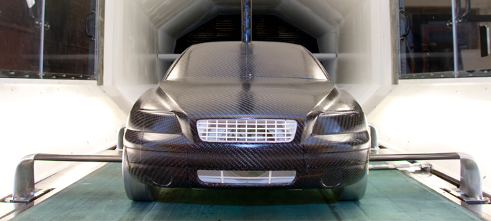 A model of Volvo V60 in the wind tunnel