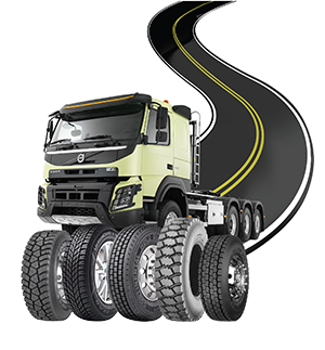 Illustration truck and tyres