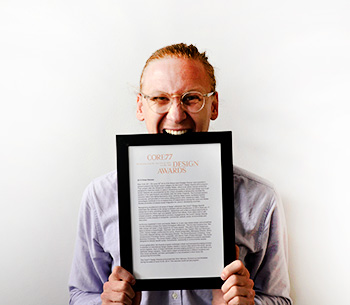 Erik Ohlson and the diploma from Core 77