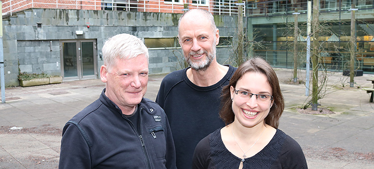 Photo of Donal Murtaugh, Patrick Eriksson and Kristell Pérot.