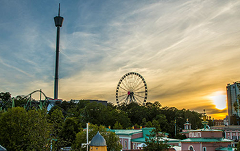 Audio description: View from Liseberg