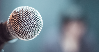 Microphone, illustrating keynote speeches