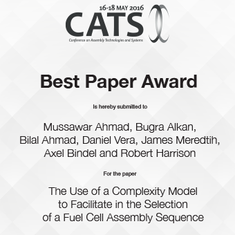 CIRP CATS 2016 Best Paper Award