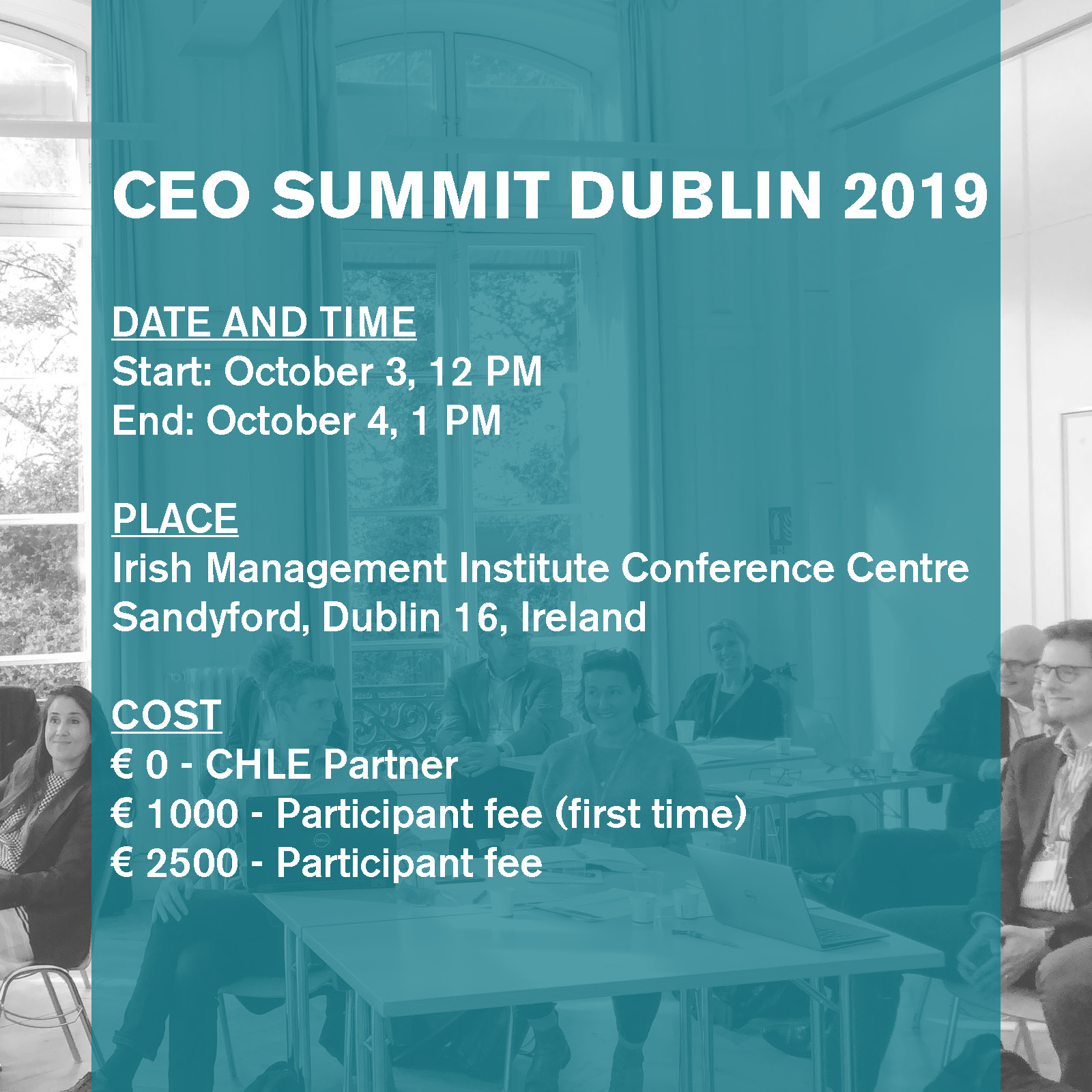CEO Summit Dublin 2019 info: