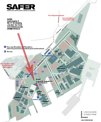 Map to Lindholmen Science Park