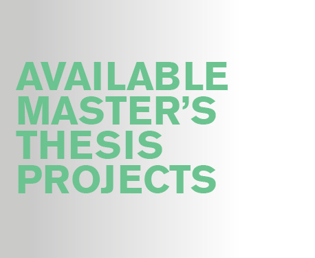 Available master thesis projects
