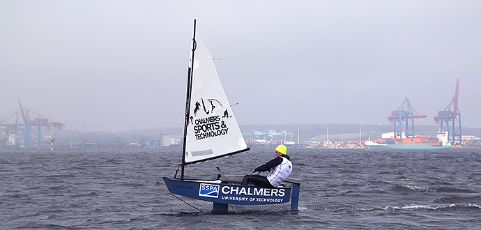 The optimist dinghy proves it can fly   Chalmers