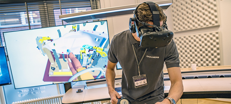 Nya svetsningsmetoder testas med hjälp av virtual reality i Stena Industry Innovation Lab.
