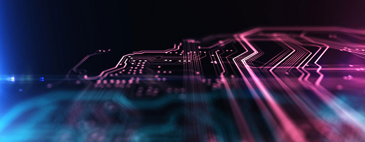 circuit board in colour, abstract image