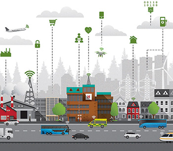 illustration of a connected city