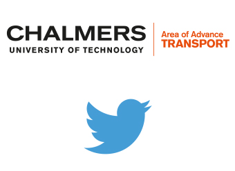 Audio description: Logotypes of Transport Area of Advance and Twitter