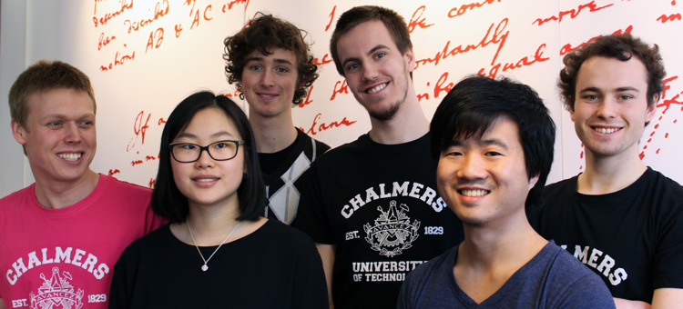 The Chalmers team in the International Physicists' Tournament 2017.