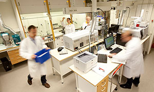 photo from the mass spectrometry lab