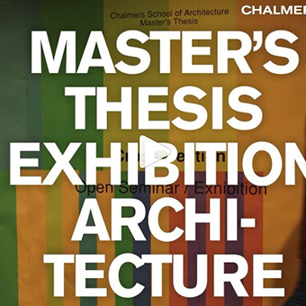 Master's thesis at Chalmers School of Architecture