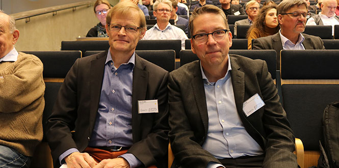 Jan Grahn, head of the GigaHertz Centre, and Erik Ström, head of ChaseOn, were pleased with the Centre Day 2019.