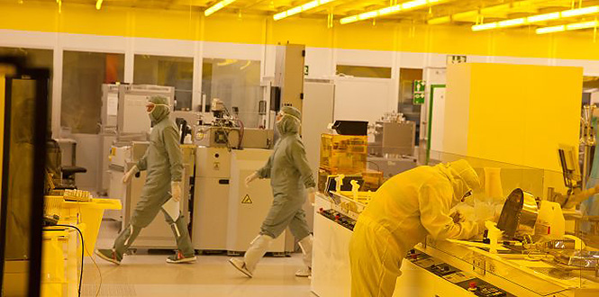 Business as ususal in the cleanroom.