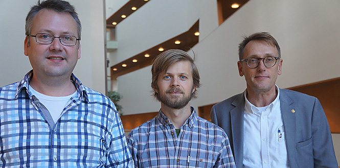 From the left, Tomas Löfwander, Mikael Håkansson and Mikael Fogelström. Photo: Michael Nystås