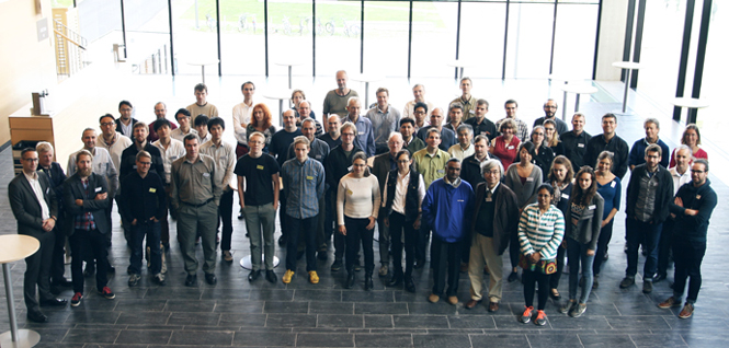 Group photo of the workshop's attendees