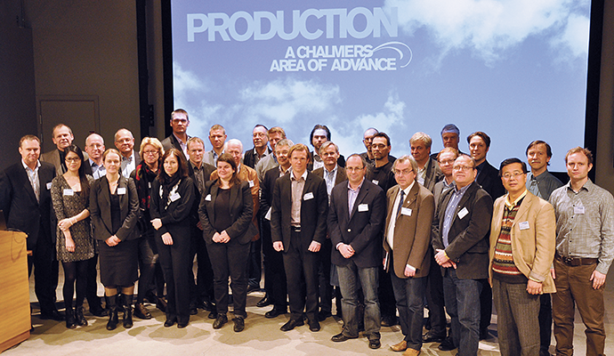 The main group of production researchers at Chalmers gathered for joint discussions.