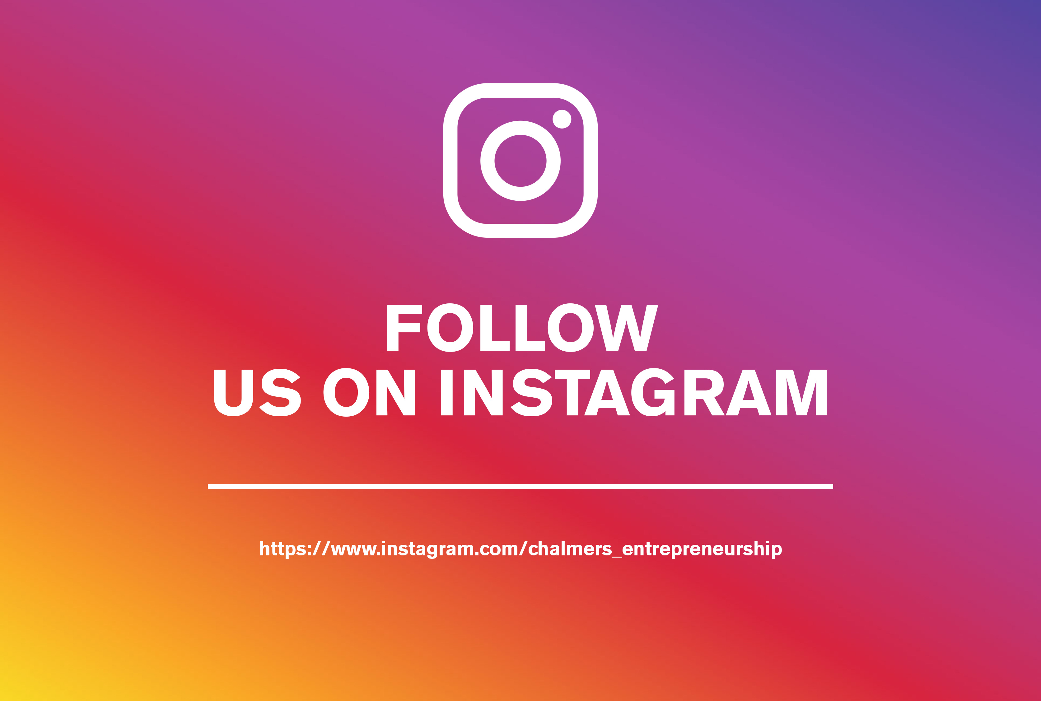 Instagram Chalmers School of Entrepreneurship