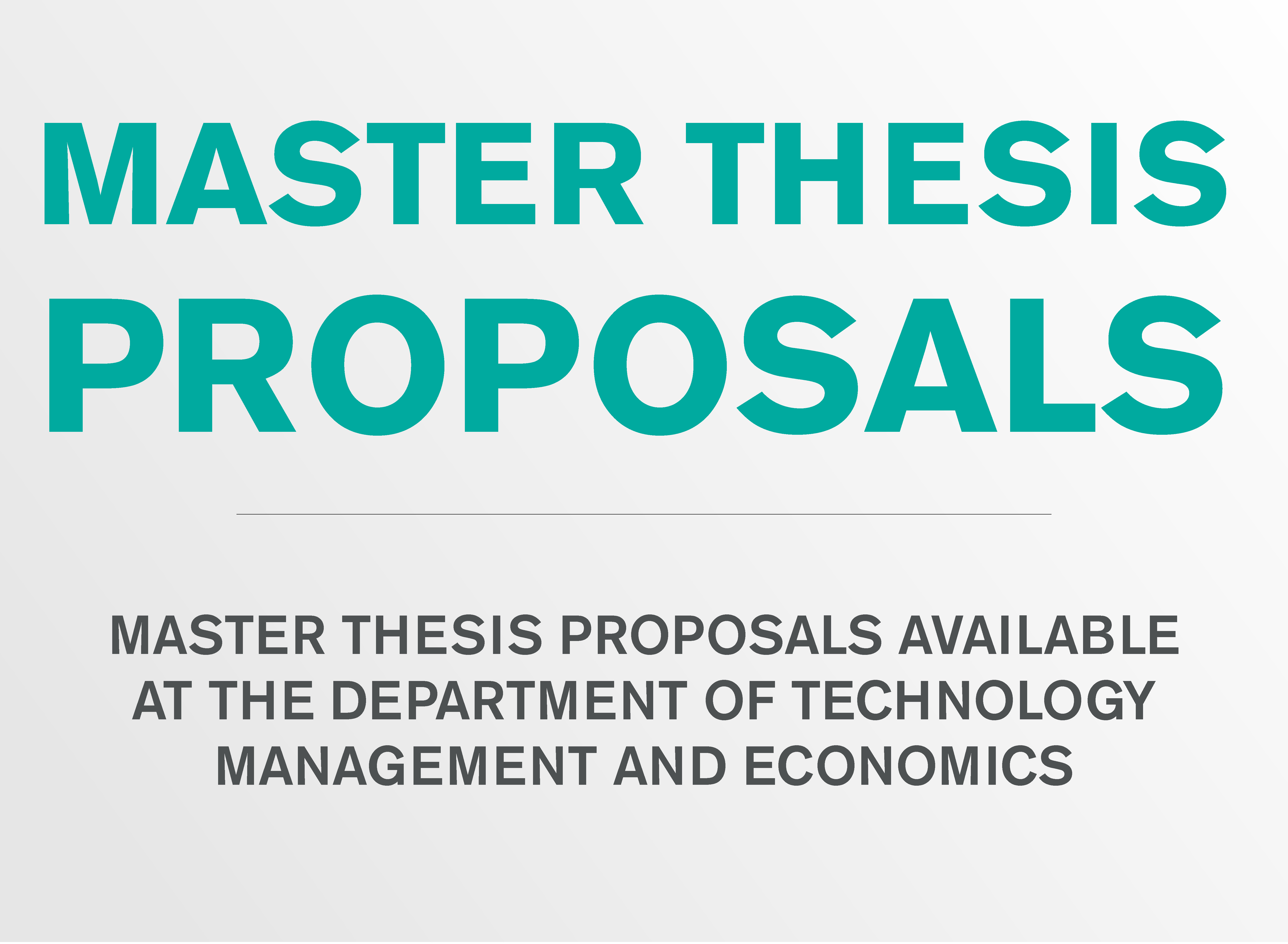 Master thesis proposal TME