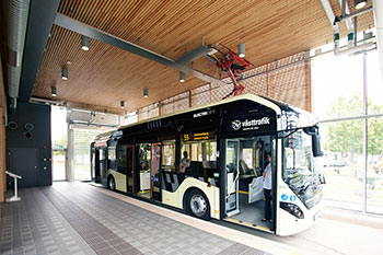 Photo of indoor bus stop for Electricity